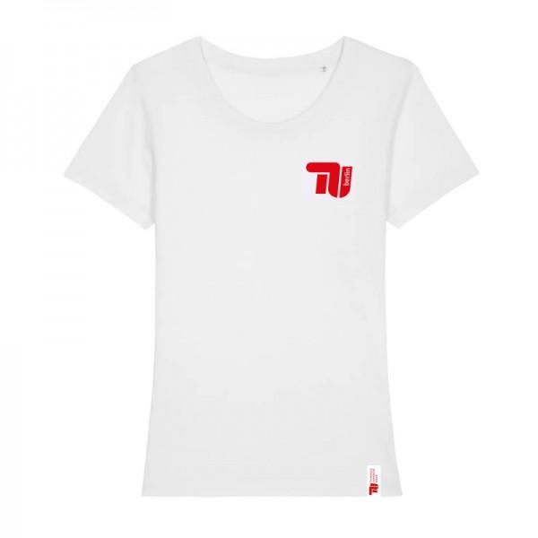 tailliertes Bio T-Shirt weiß classic