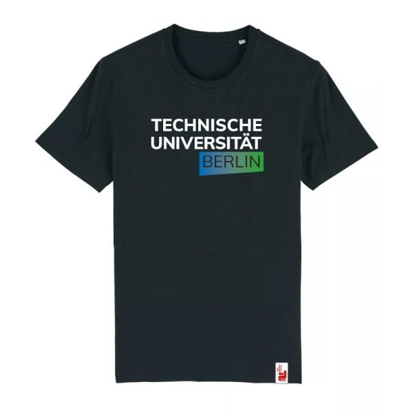 Bio T-Shirt schwarz, blau/grün