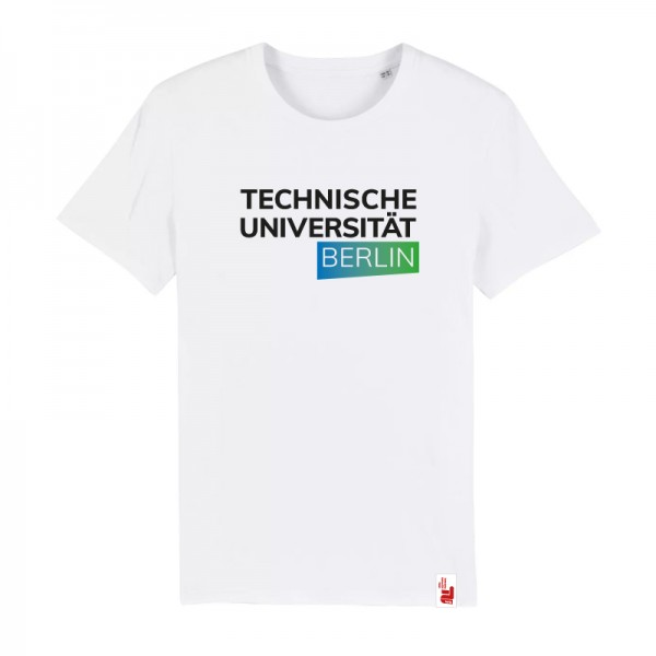 Bio T-Shirt weiß, blau/grün